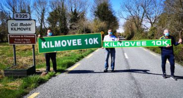 Members of Kilmovee 10k Committee - At a safe distance.